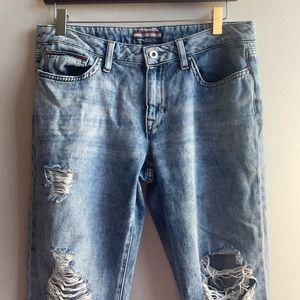 Ripped Boyfriend Jeans Tommy Hilfiger Size 6